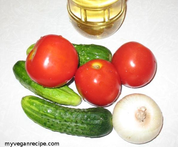 ingridients for summer salad